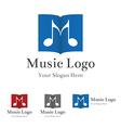Music logo template vector image