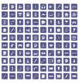 100 creative idea icons set grunge sapphire vector image vector image