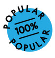 100 percent popular label vector image