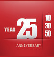 25 years anniversary celebration logo flat design vector image