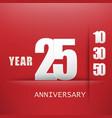 25 years anniversary celebration logo flat design