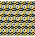 3d seamless abstract with hexagonal elements vector image vector image