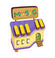 A view of music shop vector image vector image