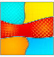 abstract wavy colorful frames concept vector image