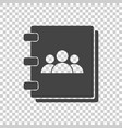 address book icon contact note flat on isolated vector image