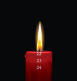 Advent candle red 22 vector image vector image