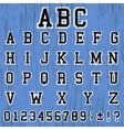 Alphabet vintage template vector image vector image