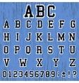 Alphabet vintage template vector image