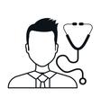 avatar man doctor vector image