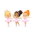 ballerina girl friend character training set cute vector image vector image