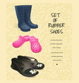 banner of rubber shoes-02 vector image vector image