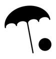 beach umbrella with ball icon minimal pictogram vector image vector image
