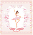 Beautiful ballerina - abstract card with pink vector image vector image