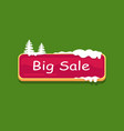 big sale web button covered snow online shopping vector image vector image