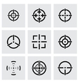 black crosshair icon set vector image