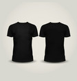 black men T-shirt isolated vector image vector image