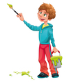 Boy painter vector image