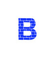 brick logo letter b vector image