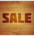 Burn Sale Tag on Wood Texture vector image vector image