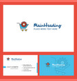 cart setting logo design with tagline front and vector image vector image