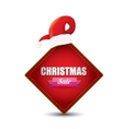 Christmas sales tag or label vector image