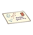 Closed Envelope with Post Stamp vector image