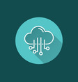 cloud computing - icon for graphic and web vector image