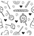 collection of candy sweet doodle style vector image vector image