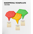 color shopping template vector image vector image