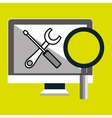 computer search tools icon vector image