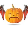 cry pumpkin2 vector image vector image