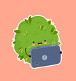 cute weed marijuana bud watch video vector image vector image