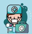 dentist boy mouthwash kit hygiene vector image vector image