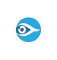 eye care logo template icon vector image