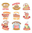 fast food list vector image vector image