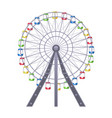 ferris big observation rotating wheel with vector image vector image