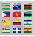 Flags of world flat Set number 16 vector image vector image