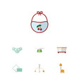 flat icon infant set of mobile toy children vector image vector image