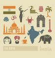 flat icons india vector image vector image