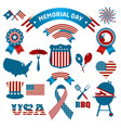 fourth of july party and memorial day icons vector image vector image