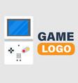 game logo game boy icon background image vector image