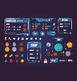 game ui kit cartoon interface menu elements vector image vector image