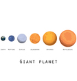 Giant planet planets and stars of the universe vector image vector image