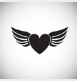 heart with wings on white background vector image