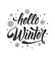 hello winter phrase vector image