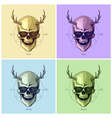 Hipster skulls pop art vector image