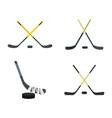 hockey stick icon set flat style vector image vector image