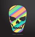 Holidays Conceptual human skull vector image