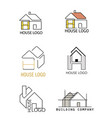 house logo in different design vector image vector image