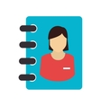 icon directory notebook school write isolated vector image vector image